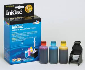 InkTec Matching refill kit HPI-4060C for the HP C9352 - No 351 Colour Cartridges