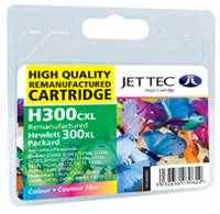 HP 300 High Yield Colour Ink Cartridge Recycled HP Jettec