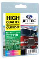 HP 110 cartridge recycled by Jettec