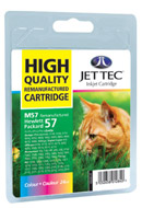 Jettec C6657 - No 57 Remanufactured / Recycled HP Colour Ink Cartridge